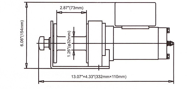 Схема лебедки DW2000