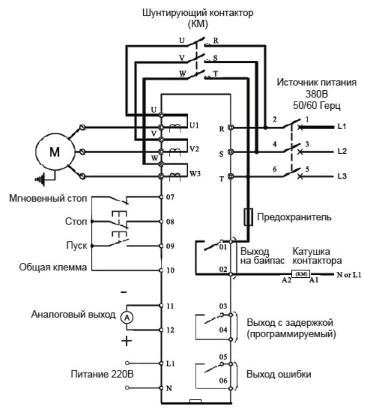 Принципиальная схема подключения PRS3